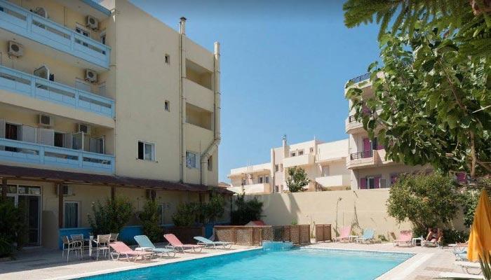 Отель Eleni palace 3* в деревне Амудара на Крите