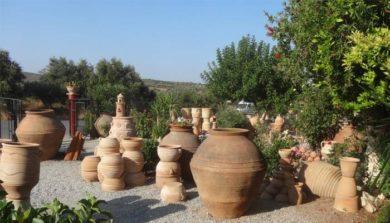 Фабрика керамики в деревне Трапсано на Крите