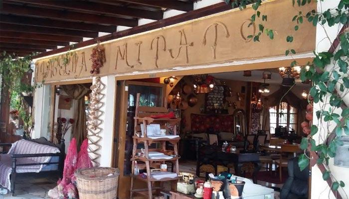 Ресторан греческой кухни Mitato в деревне Амудара на Крите