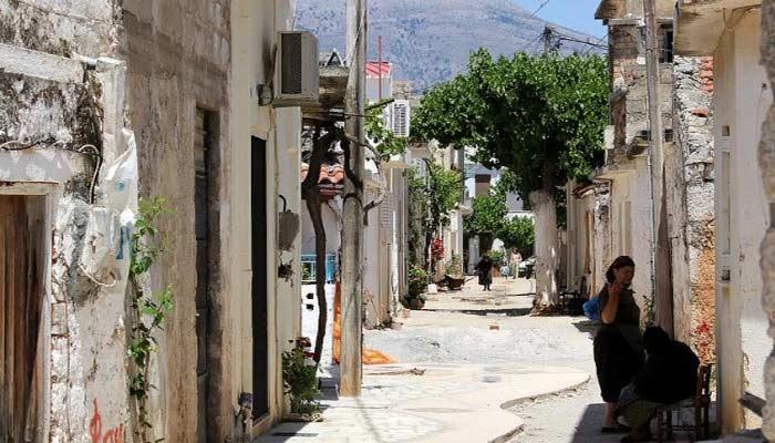 Деревня Крустас, особенное место на острове Крит.