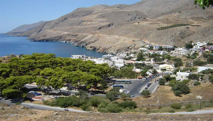 Фото деревни Хора Сфакион на Крите