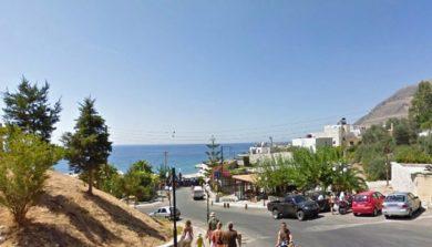 Улица деревни Хора Сфакион на Крите