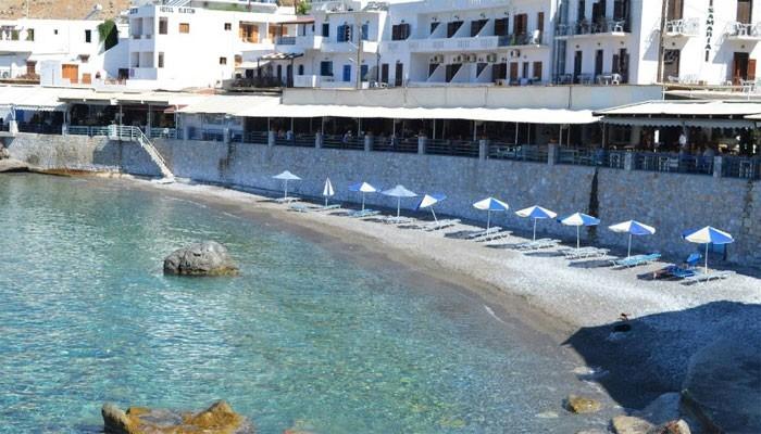 Пляж Лутро на острове Крит