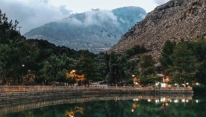 Озеро Вотомос на Крите