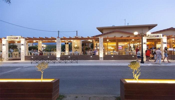 Вечерние улицы в деревне Малеме на Крите