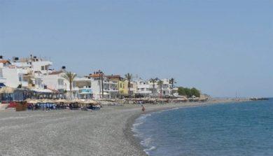 Пляж Миртос в одноименной деревне на острове Крит