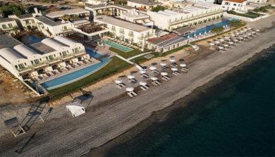 Пляжная полоса поселка Колимбари на Крите
