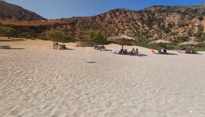 Пляж Гиалискари на острове Крит