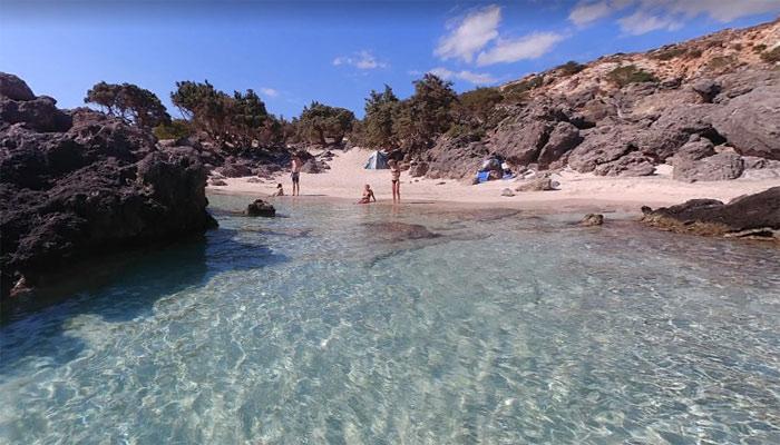 Пляж Kedrodasos в Киссамосе на Крите