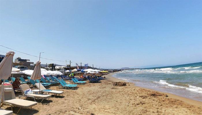 Пляж на курорте Като Гувес на Крите