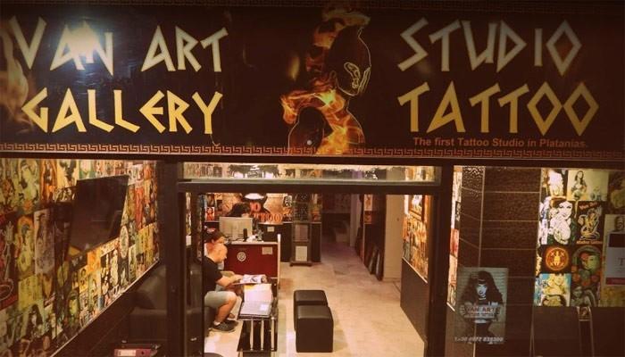 Тату-салон STUDIO TATTOO VAN ART в Платаньясе на Крите