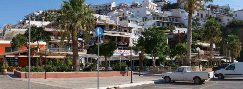 Вид на город Агия Галини на Крите