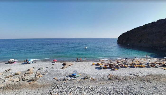 Пляж Илингас на острове Крит