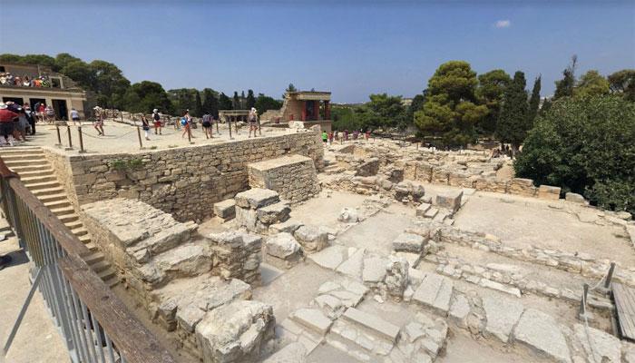 Фото Кносского двореца в Ираклионе на Крите