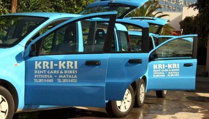 Прокат автомобилей и мотоциклов Kri-Kri cars & bikes rental в Матале на Крите