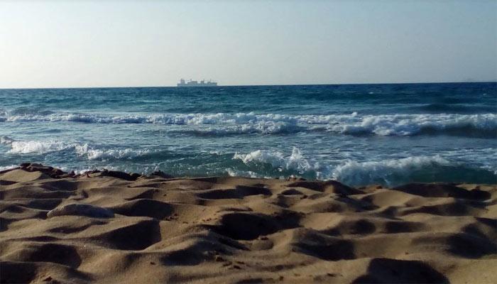 Фото моря с пляжа Картероса на Крите