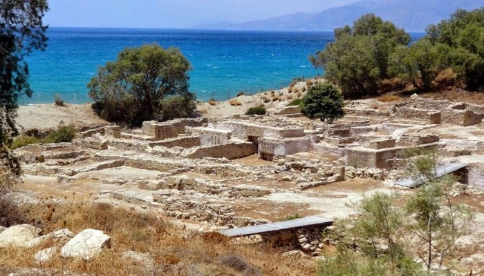 Развалины города Коммос на Крите