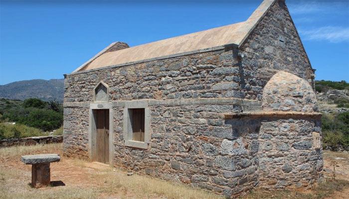 Церковь Святого Иоанниса на курорте Элунда на острове Крит