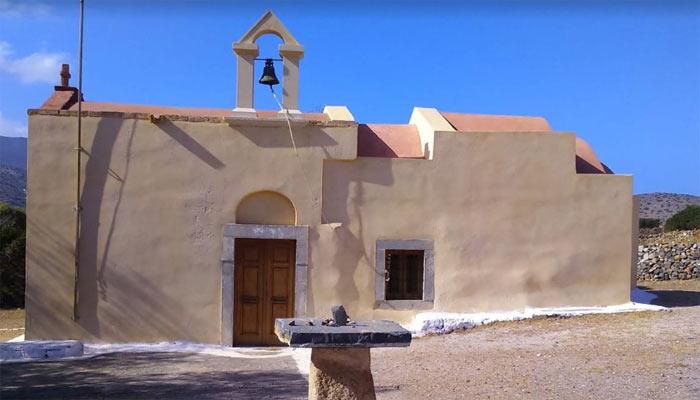 Религиозный памятник Христианская базилика Порос в поселке Элунда на Крите