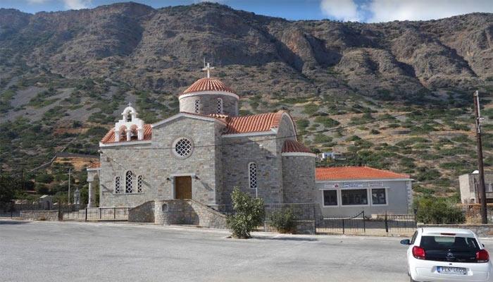 Вознесенская церковь в деревни Элунда на Крите