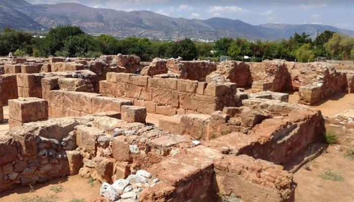 Античный Малийского дворец в городе Малия на Крите