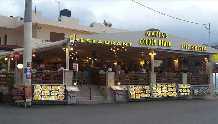 Ресторан греческой кухни Marias Golden Beach в Сталиде