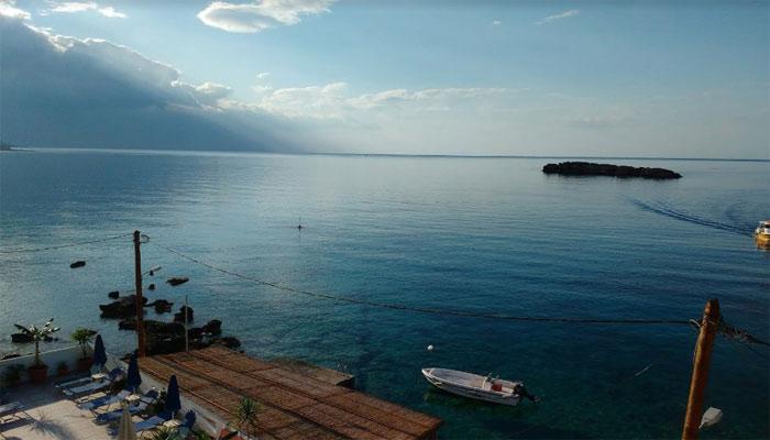 Вид на море у берегов Сталиды на Крите