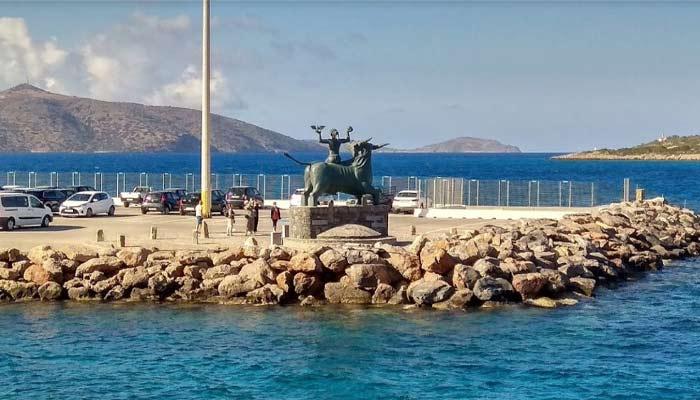 Монумент Europa-Statue в Агиос Николаос на Крите