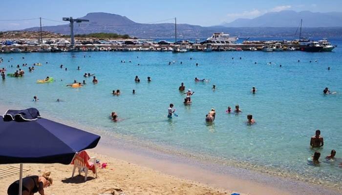 Мелководный пляж Марафи на Крите