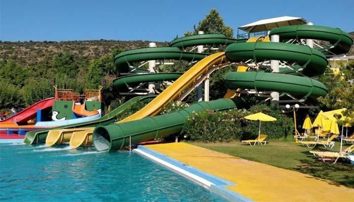 Горки аквапарка на Крите