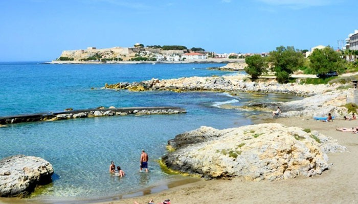 Фото пляжа Despotiko Beach в городе Ретимно на Крите