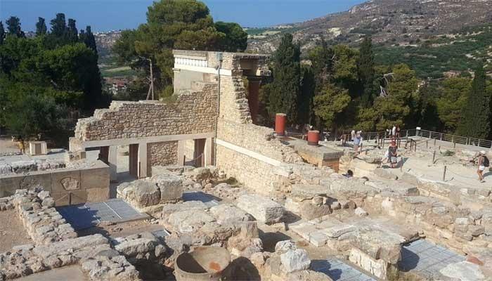 Фото Кносского дворца на острове Крит