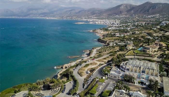 Фото Критского моря с воздуха