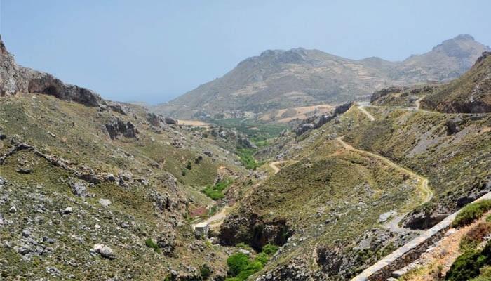 Фото Курталиотского ущелья на острове Крит