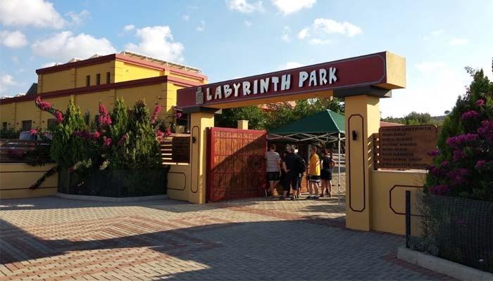 Центральный вход тематического парка Labyrinth Park на Крите