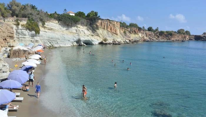 Пляж Saradari на острове Крит