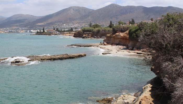 Нудистский пляж недалеко от поселка Аниссарас
