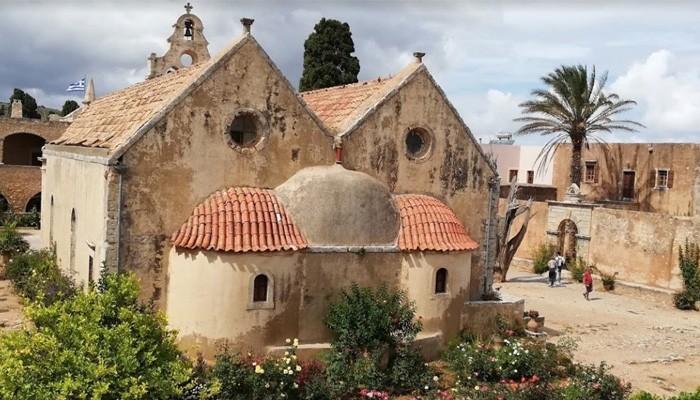 Монастырь Аркади возле города Ретимно на острове Крит