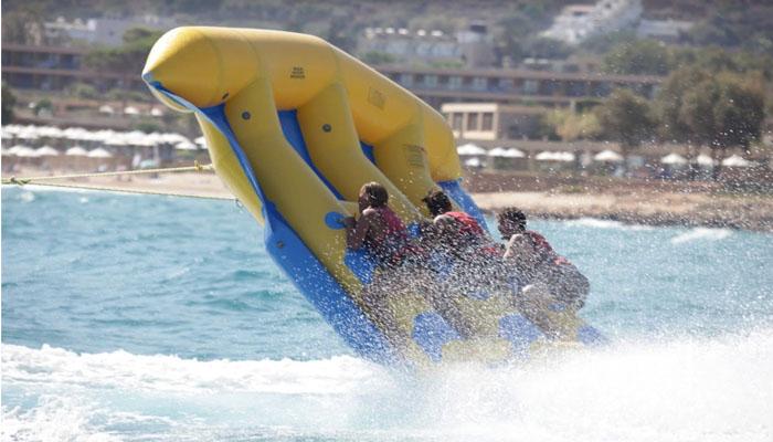 Водные развлечения курорта Малия на Крите