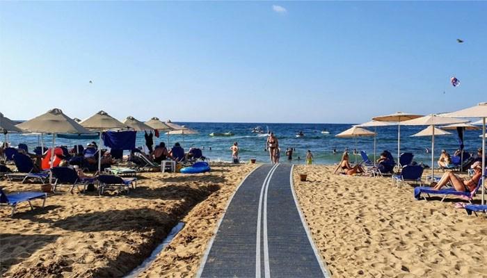 Фото берега пляжа Малия курорта Малии