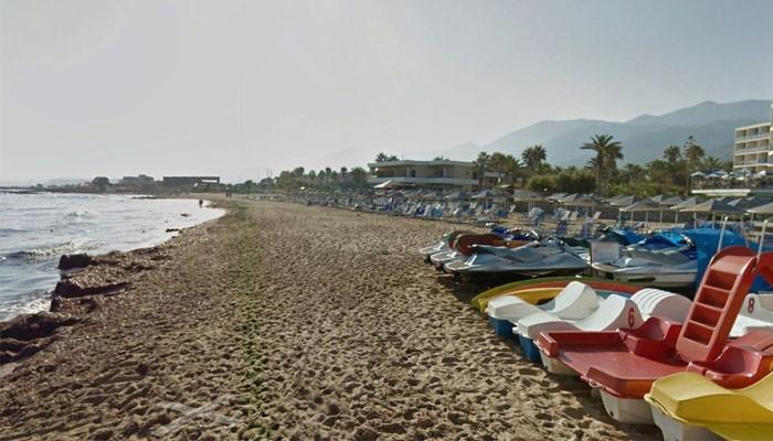 Береговая линия пляжа Клоцани курорта Малии