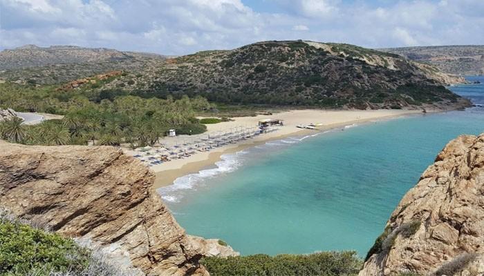 фото пляжа Ваи на нома Лассити на острове Крит