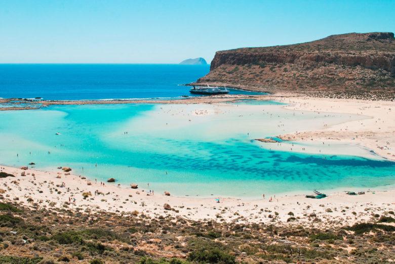 Какие пляжи на Крите - бухта Балос