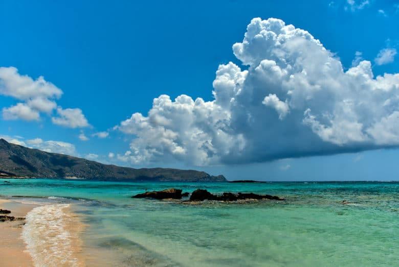 Пляж Элафониси на острове Крит, Греция