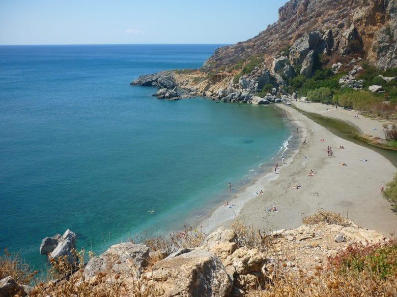 Пляж Превели (Preveli) на Крите